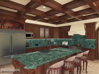 Дизайн дома в Средиземноморском стиле по Калифорнийски Кухня в средиземноморском стиле от Kiev Design Online Studio Средиземноморский