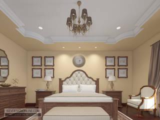 Дизайн дома в Средиземноморском стиле по Калифорнийски Спальня в средиземноморском стиле от Kiev Design Online Studio Средиземноморский