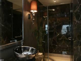 Rich & Aki Modern bathroom Marble Black