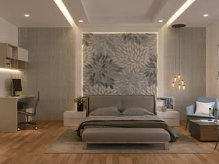 De Panache Hyderabad Small bedroom Plywood Beige