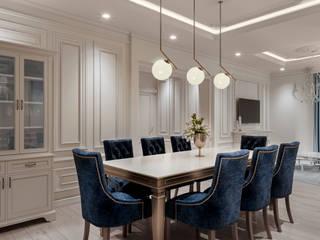 Neo Classical design De Panache Hyderabad Modern dining room Plywood Beige