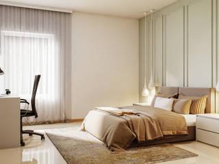 Prestige Ferns Residency De Panache Hyderabad Small bedroom Plywood Beige