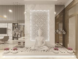 Sankalp Central Park De Panache Hyderabad Modern living room Stone Beige