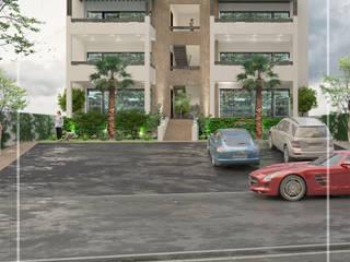 Espaços comerciais modernos por Visualización 3D Moderno