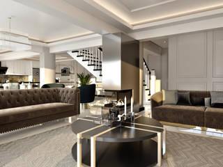 Villa Projesi Klasik Oturma Odası Beyza Deniz Yaz Interiors Klasik