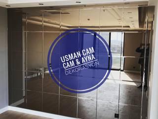 Usman Cam – Kare Desen Bronz Ayna: modern tarz , Modern