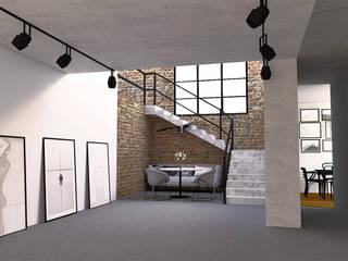 Industrialny loft od AN Koncept Anita Niziałek