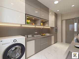 JP Decks - Kitchen Rendering Minimalist kitchen by RK Design Studio Minimalist