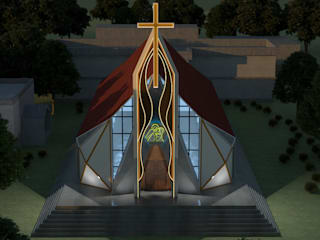 Church of Annunciation Modern houses by Zelo Architects Modern