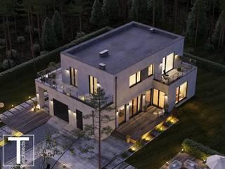 CUBE проект двухэтажного дома от ТЕРРИТОРИЯ