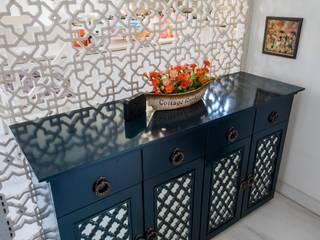 Shringaar Residence Skywalk Designs Modern corridor, hallway & stairs