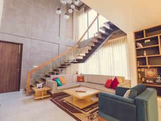 Shringaar Residence Skywalk Designs Modern living room