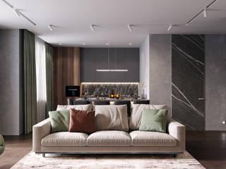 Livings de estilo minimalista de Студия архитектуры и дизайна Дарьи Ельниковой Minimalista