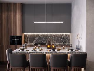 Студия архитектуры и дизайна Дарьи Ельниковой Minimalist living room