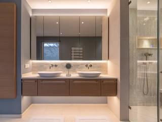 Permute Mosaic Vivante Banheiros modernos Ambar/dourado