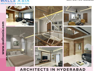 Architects In Hyderabad | Walls Asia Asian style dining room by Walls Asia Architects and Engineers Asian