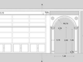 Ristrutturazione soggiorno in stile vittoriano di Arch. Sara Pizzo - Studio 1881 Coloniale