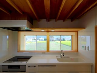 井原の住宅 オリジナルデザインの キッチン の グッドサイトアーキテクツ一級建築士事務所 オリジナル