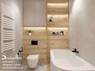 Łazienka w nowoczesnym stylu Nowoczesna łazienka od Senkoart Design Nowoczesny
