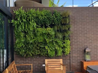JARDINES VERTICALES Jardines de estilo tropical de URRETA Arquitectura del Paisaje Tropical