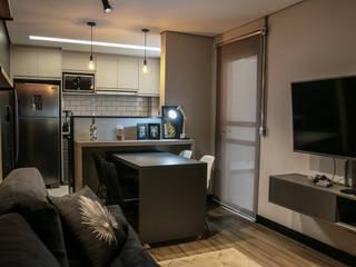 Projeto Residencial Apto LG Salas de estar industriais por JVernill Arquitetura Industrial