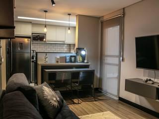 Projeto Residencial Apto LG Salas de jantar industriais por JVernill Arquitetura Industrial