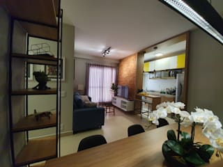 Projeto Residencial Apto PF Salas de estar industriais por JVernill Arquitetura Industrial