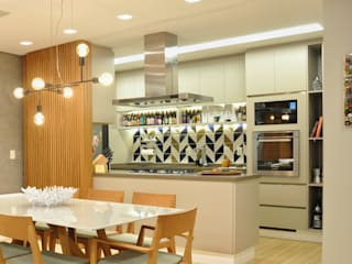 Linna Li Design de Interiores Ruang Makan Modern