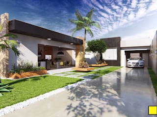 ESPAÇO DE LAZER Casas modernas por Amauri Berton Arquitetura Moderno