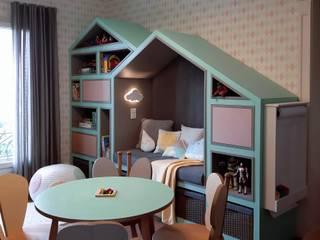 Linna Li Design de Interiores Kamar Bayi/Anak Modern