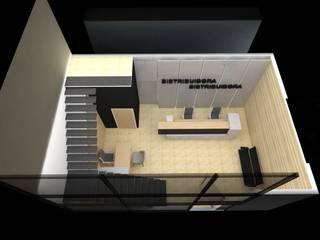 Diseño Interior de Oficinas para una Distribuidora de MAS ARQUITECTURA1 - Arq. Marynes Salas Moderno