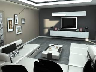 A. ALKHANDARİ DAİRE PROJESİ Archimed İç Mimarlık ve Danışmanlık Hizmetleri Ticaret Ltd. Şti. Modern Oturma Odası