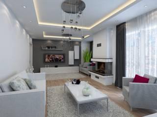 M.ÇALIŞKAN DAİRE PROJESİ Archimed İç Mimarlık ve Danışmanlık Hizmetleri Ticaret Ltd. Şti. Modern Oturma Odası