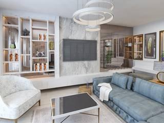 E. CEYLAN - VİLLA PROJESİ Archimed İç Mimarlık ve Danışmanlık Hizmetleri Ticaret Ltd. Şti. Modern Oturma Odası