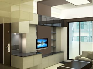 室內設計 现代客厅設計點子、靈感 & 圖片 根據 RODSGN 現代風