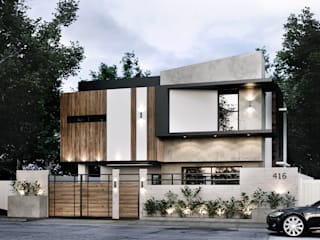 416 Residence Renovation Kenchiku 2600 Architectural Design Services Single family home Concrete White