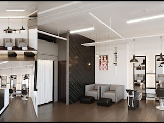 Beauty Salon Kenchiku 2600 Architectural Design Services Floors Bricks White
