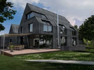 Villa mit Sauna und Pool Moderne Häuser von architekten wendling Modern