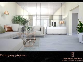 Luksusowy salon w stylu modern - classic Klasyczny salon od BARBARA MODERN - NOWOCZESNE WNĘTRZA Klasyczny