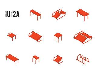U12A meble na bazie barier olsztyńskich od SUPERGUT STUDIO