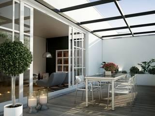 DOMO DE CRISTAL TEMPLADO Balcones y terrazas minimalistas de Técnica y edificación Minimalista