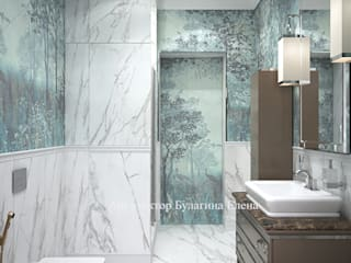 Архитектурное Бюро 'Капитель' Classic style bathroom Ceramic Brown