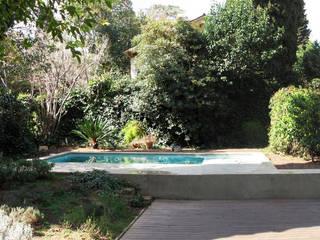 Pequeña piscina en jardín ESTUDI NAO arquitectura Piscinas de estilo mediterráneo Hormigón Verde