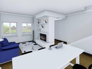 Ristrutturazione ed efficientamento energetico di una villetta a schiera Studio Dalla Vecchia Architetti Soggiorno moderno