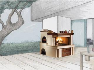 Gruppo Piazzetta S.p.a. Balcon, Veranda & Terrasse rustiques Métal Marron