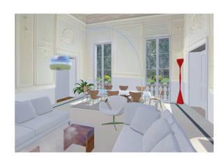 Studio Dalla Vecchia Architetti Modern Oturma Odası