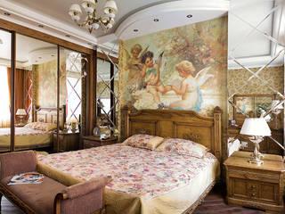 Трёхкомнатная в сталинке Спальня в стиле модерн от rom-design.ru Модерн