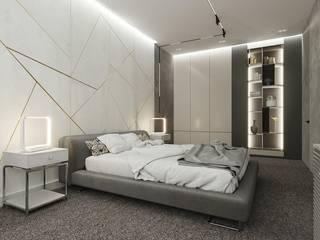 Дизайн спален Спальня в стиле минимализм от Студия дизайна интерьеров и ремонта Алексея Выходца Минимализм