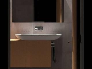 Linhas Simples Baños de estilo minimalista Cerámico