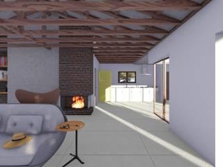 Modelação e Renderização Salas de estar modernas por Diogo Faísca Moderno